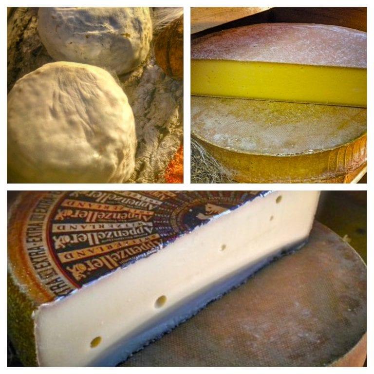 La Cloche à Fromage: alguns dos muuuuuitos queijos (1- brebidin entier; 2- Abondance e 3- Bleu de gex | Imagens: site oficial do restaurante