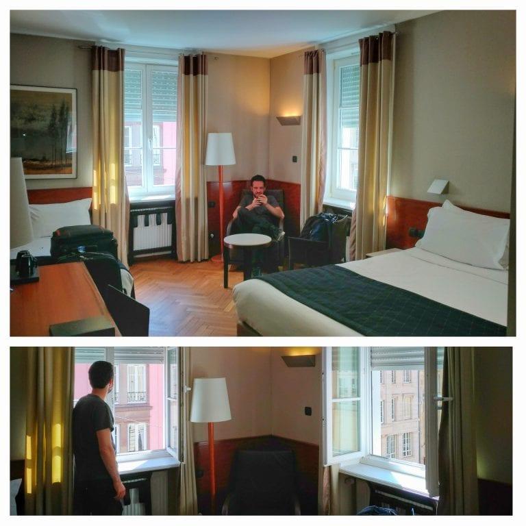 Hotel Hannong: quarto amplo, iluminado e arejado