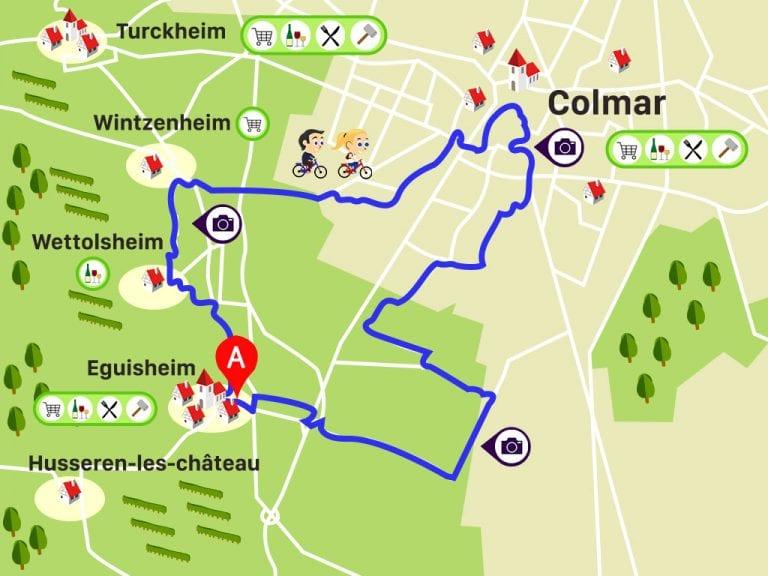 Alsa Cyclo Tours: Circuit Colmar (passeio que fizemos por Colmar e Eguisheim)