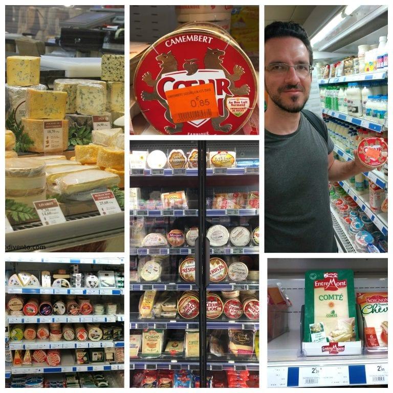 Os deliciosos queijos franceses! :)