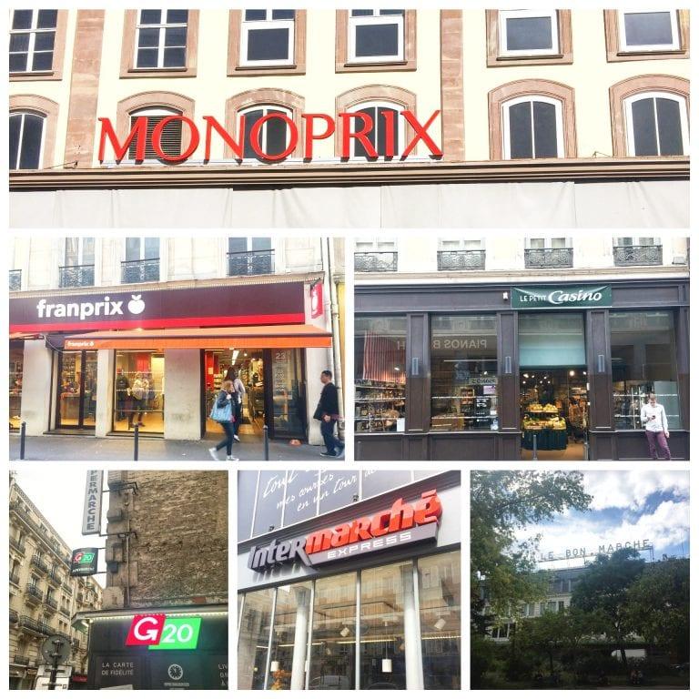 Algumas das principais redes de supermercados em Paris