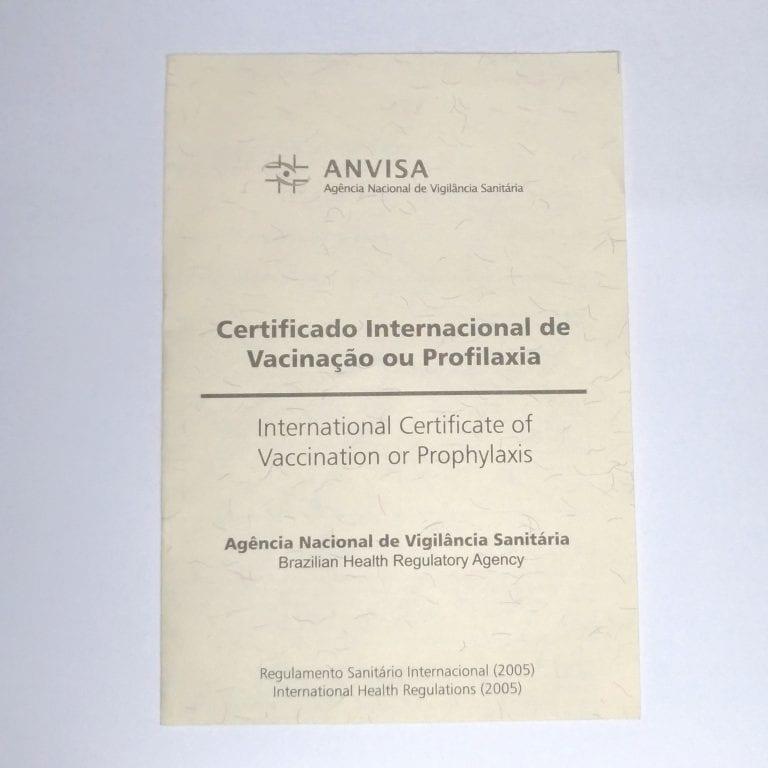 Certificado Internacional de Vacinação ou Profilaxia – CIVP