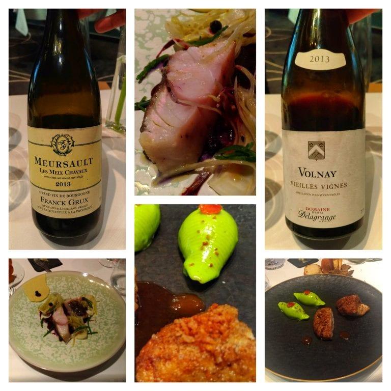 Restaurant William Frachot: pratos principais e respectivos vinhos
