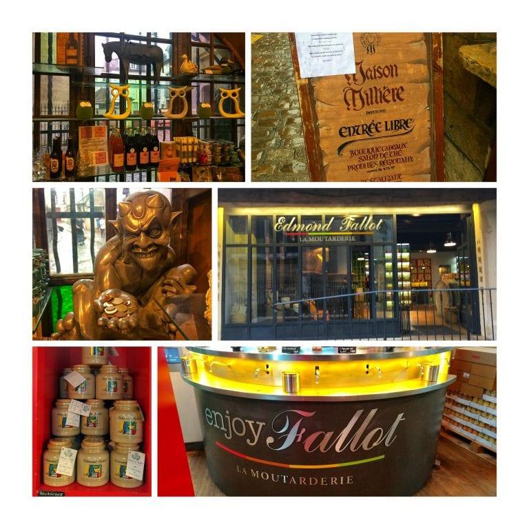 Dijon: lojas clássicas da cidade, como a clássica Millière e a Edmond Fallot Moutarderie