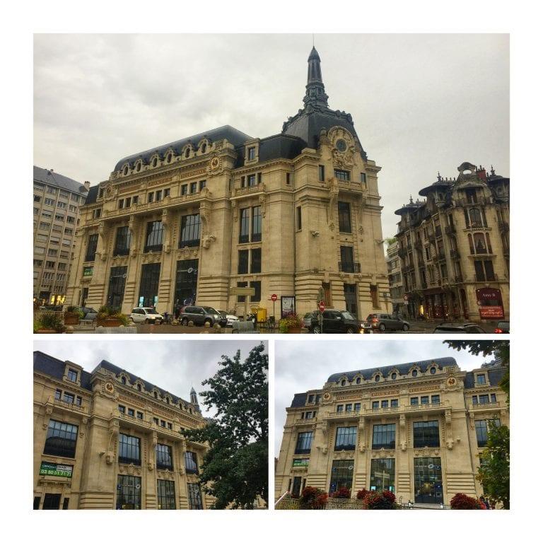 Dijon: Place Grangier, onde fica um antigo e imponente prédio dos correios