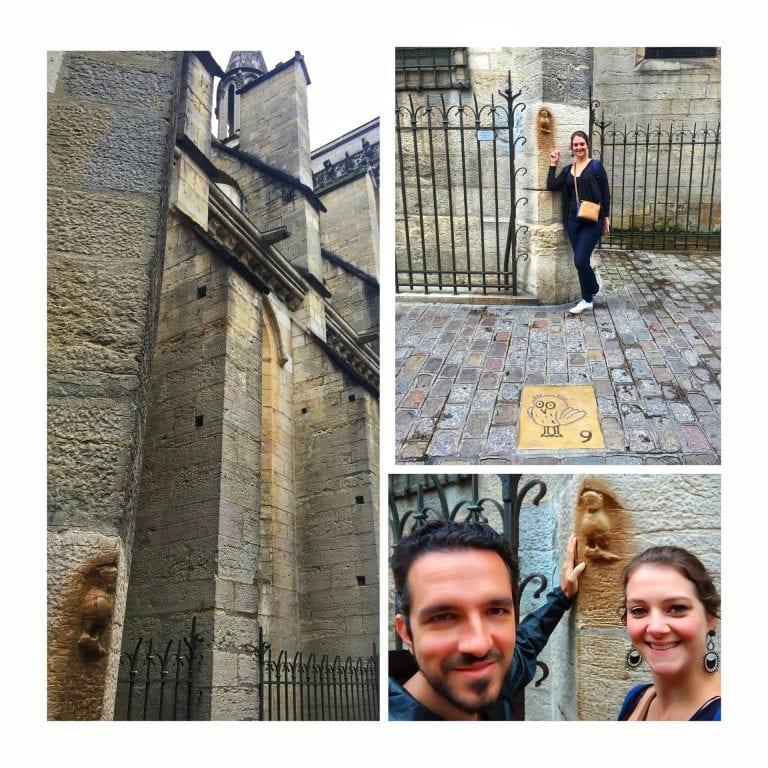 Dijon: Rue de la Chouette, onde encontramos finalmente a misteriosa Coruja, símbolo da cidade de Dijon