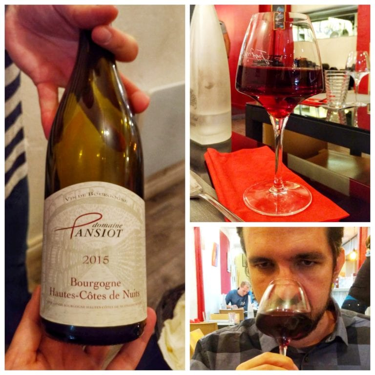 La Fine Heure: Bourgogne Hautes Cotes de Nuits domaine Pansiot 2015