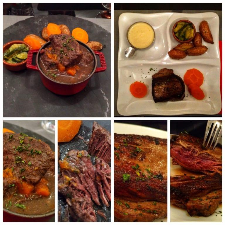 La Fine Heure: dois pratos principais - Bourguignon de Joue de Bœuf e o Filet de Bœuf