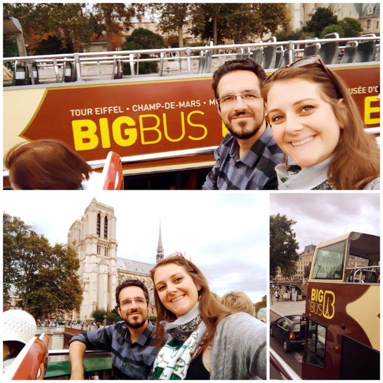 Big Bus Paris - início da viagem