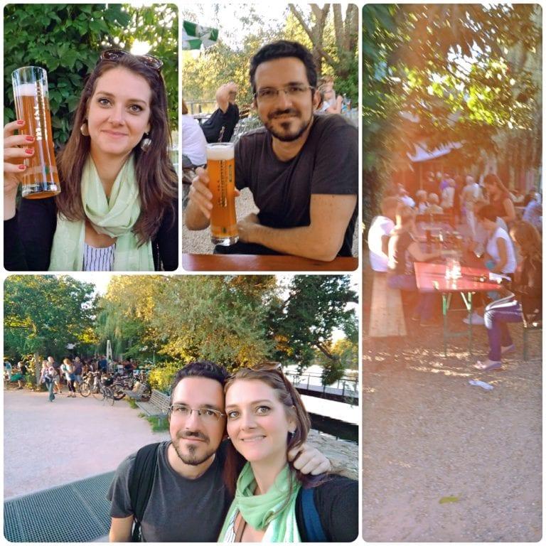 O que fazer em Kehl - Biergarten para tomar uma cerveja local nas mesas coletivas