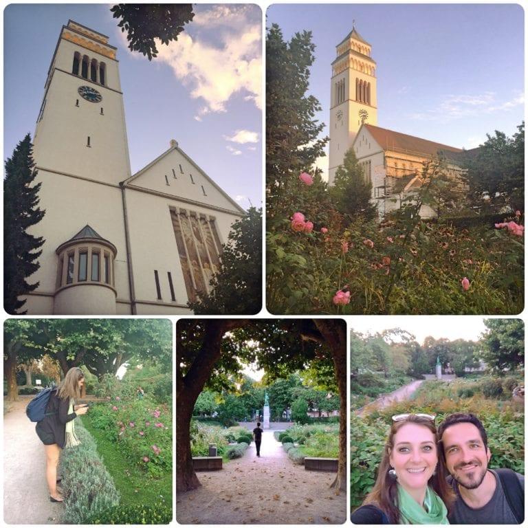 O que fazer em Kehl - igreja católica St.Johannes Nepomuk e Rosedal, Rosengarten-Stadtpark