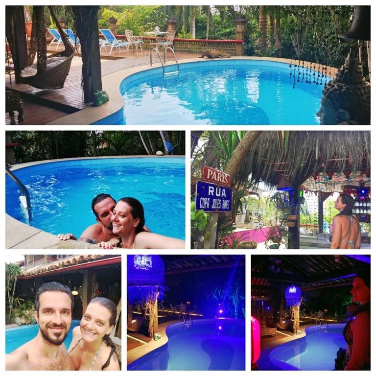 Aquabarra Boutique Hotel & Spa - curtindo a piscina de dia e à noite