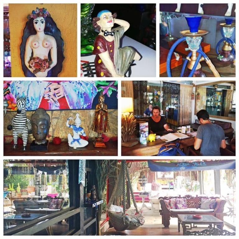 Aquabarra Boutique Hotel & Spa - recepção e detalhes da decoração