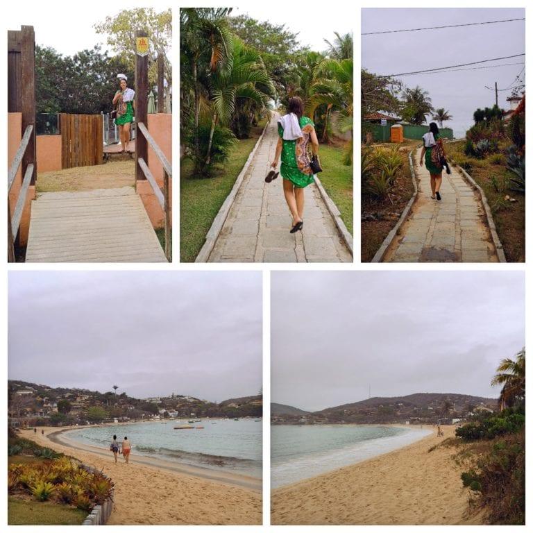 Hotel Ferradura Resort - acesso do hotel à Praia da Ferradura
