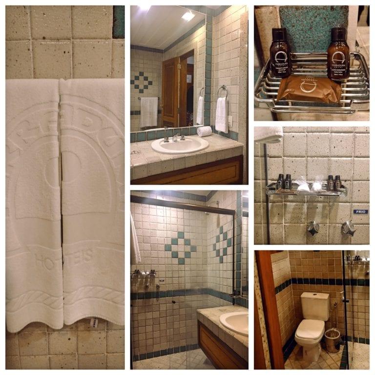 Hotel Ferradura Resort - banheiro grande e com amenities de boa qualidade