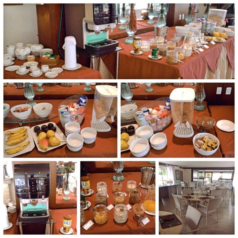 Hotel Ferradura Resort - café da manhã servido no restaurante