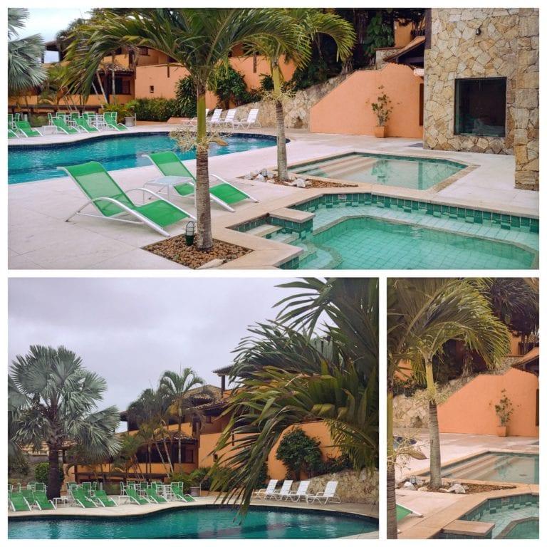 Hotel Ferradura Resort - pátio do hotel por onde passa para acessarr a ala 1 onde ficamos hospedados