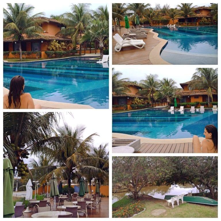 Hotel Ferradura Resort - piscinas lago e áreas de convivência