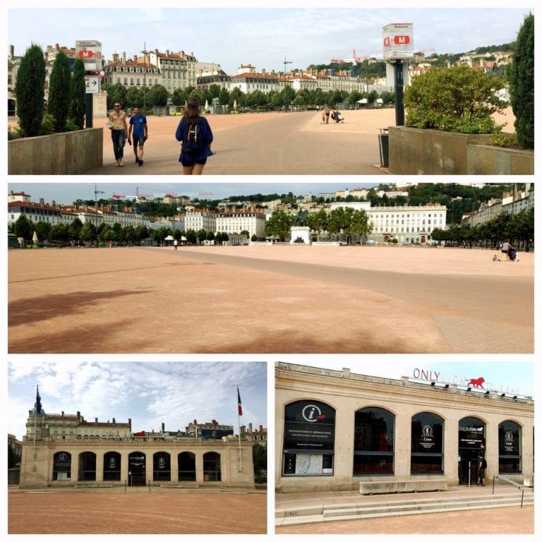Lyon City Tour - Place Bellecour onde fica o escritório de turismo Only Lyon