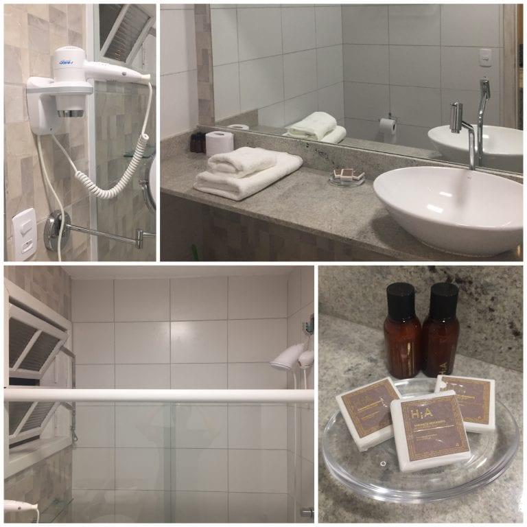 banheiro do nosso quarto na Hospedaria Conceitual