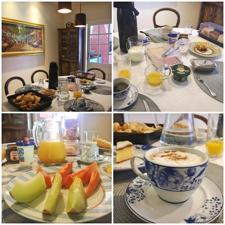 Mesa do café da manhã na Hospedaria Conceitual