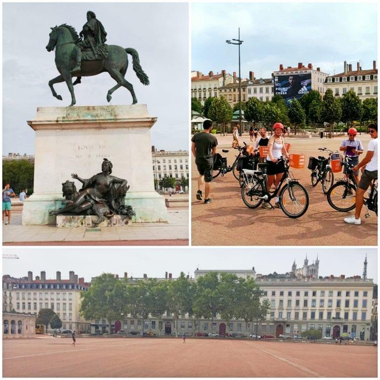 Lyon Bike Tour - Place Bellecour