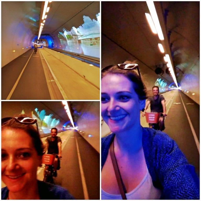 Lyon Bike Tour - Tube Mode Doux um túnel de quase 2km de extensã