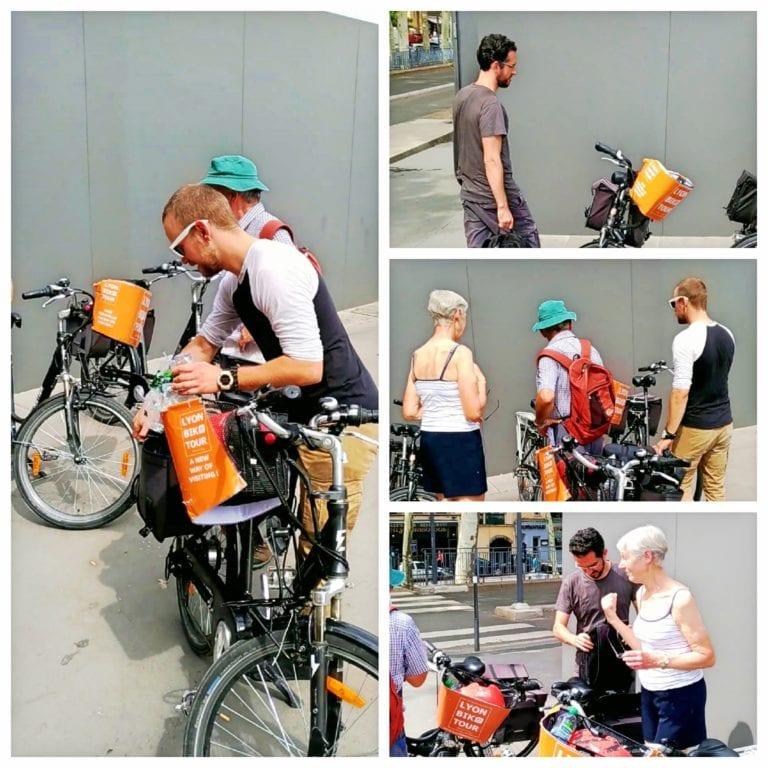 Lyon Bike Tour - pegando as bikes e ouvindo as explicações sobre o funcionamento da bike elétrica