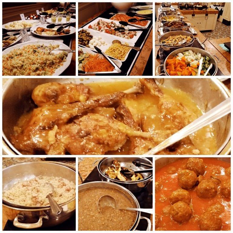 Confeitaria Colombo - buffet de saladas e pratos quentes