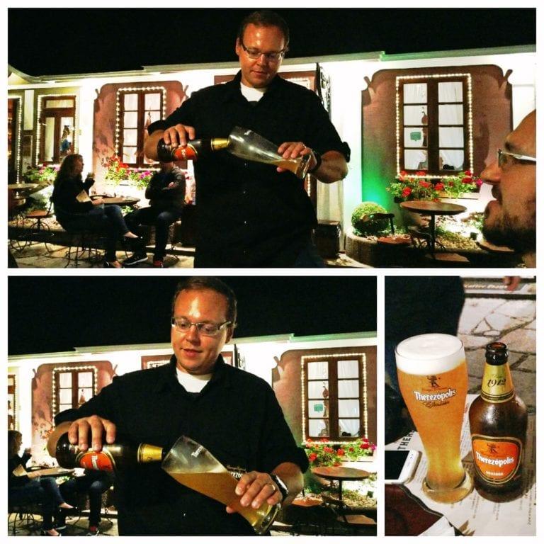 Vila St. Gallen - Pedro servindo uma Weiss como deve ser
