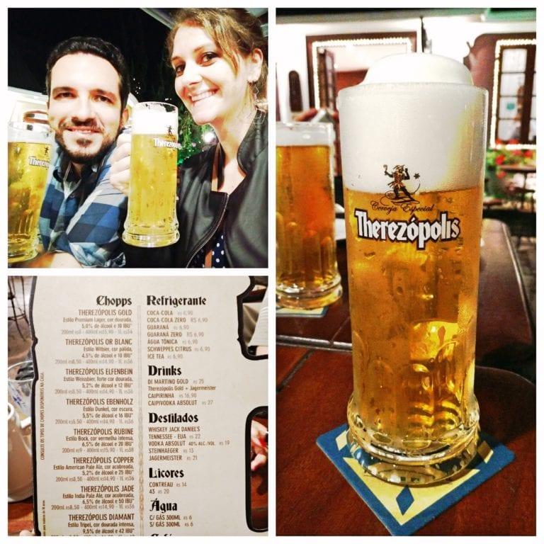 Vila St. Gallen - abrindo os trabalhos da noite com uma cerveja on tap