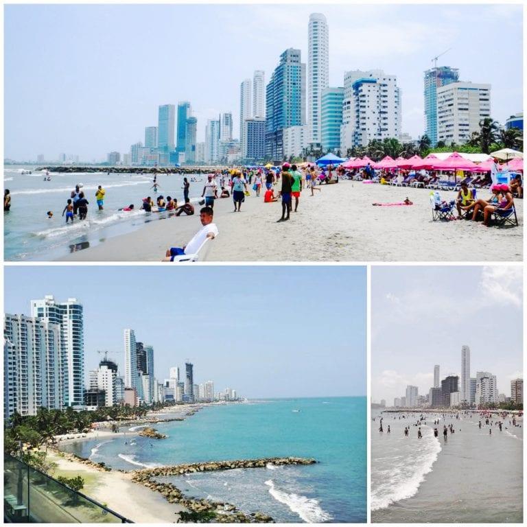 Praia de Bocagrande, em Cartagena