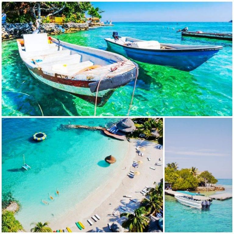 Mar Caribenho nas Islas Rosario