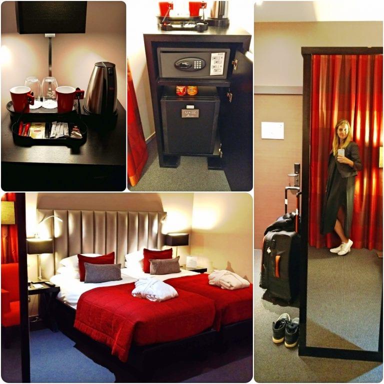 Hotel Martin's Klooster - cama gigante e chaleira elétrica