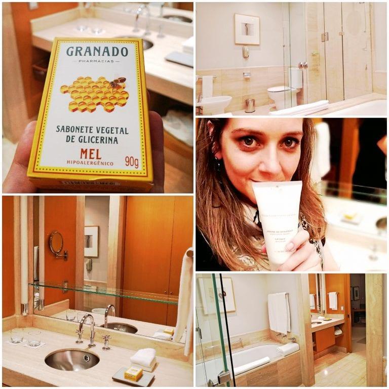Grand Hyatt São Paulo - banheiro enorme e com podutos de luxo da Granado
