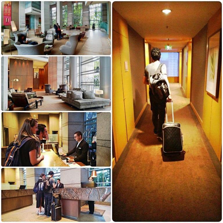 Grand Hyatt São Paulo - recepção e corredor do nosso quarto
