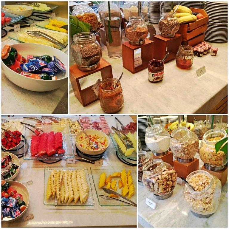 Hotel Grand Mercure São Paulo Vila Olimpia - frutas, cereais, geleias e nutella