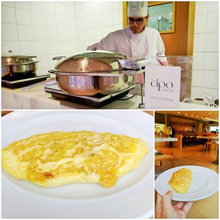 Hotel Grand Mercure São Paulo Vila Olimpia - omelete preparado na hora