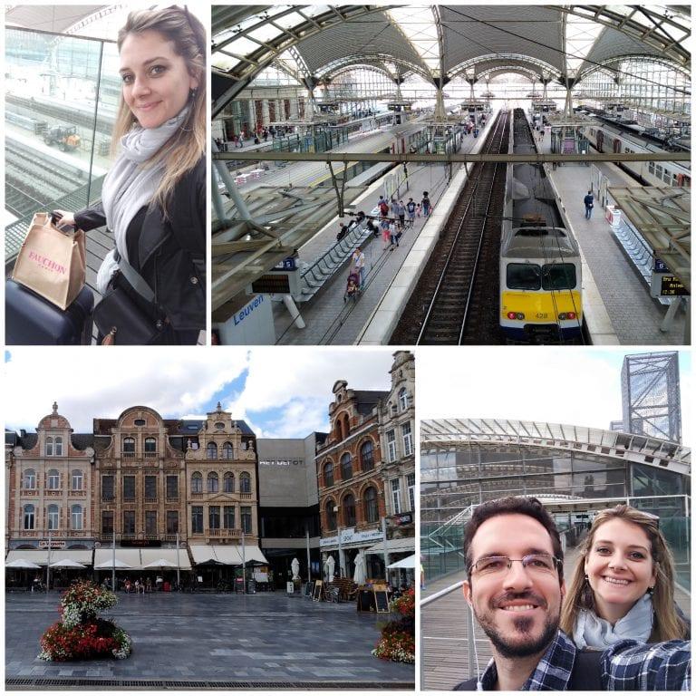 Chegando na estação de trem de Leuven