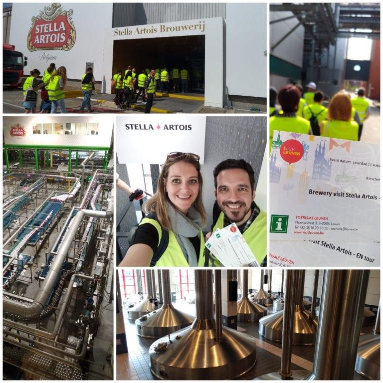 Visitando a fábrica da Stella Artois em Leuven
