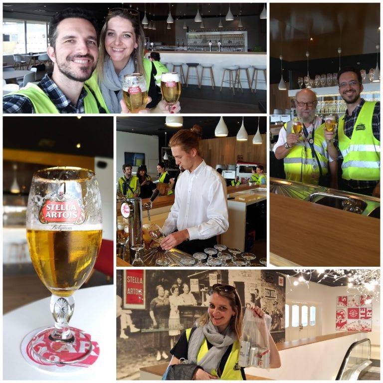 O momento de experimentar a cerveja e ganhar o kit de presente da Stella Artois