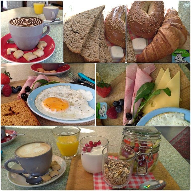 Café da manhã no Kaffeenini - nosso pedido