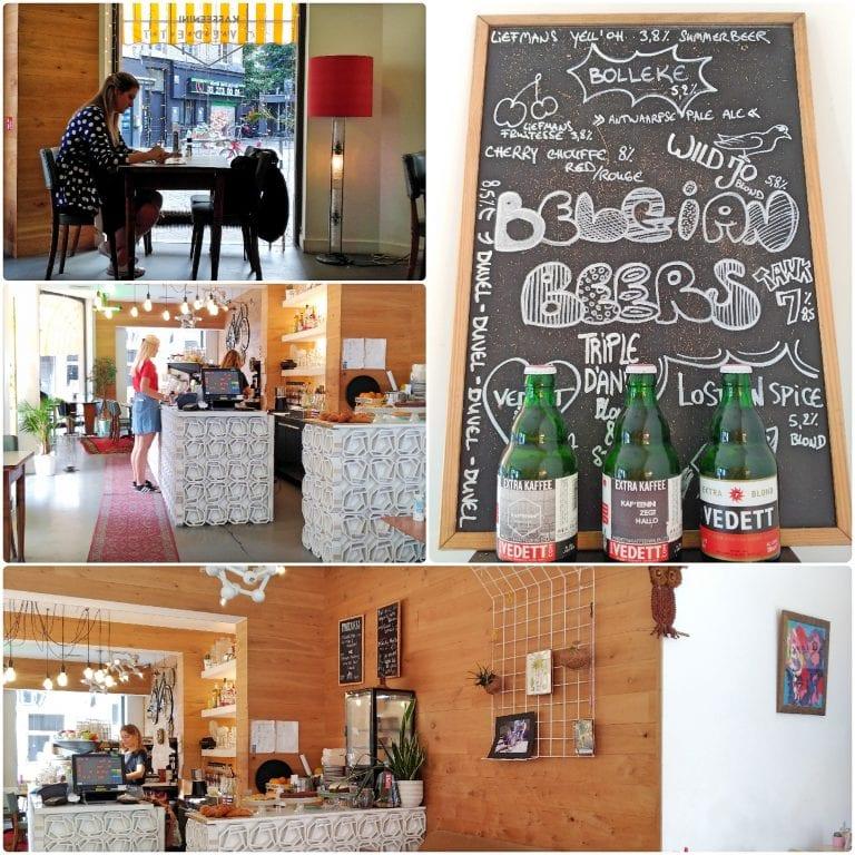 Café da manhã no Kaffeenini - o ambiente interno
