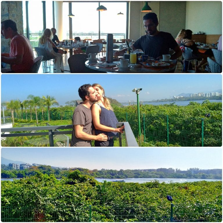Grand Hyatt Rio de Janeiro - Espaço Tano onde é servido o café da manhã com vista para a Lagoa de Marapendi