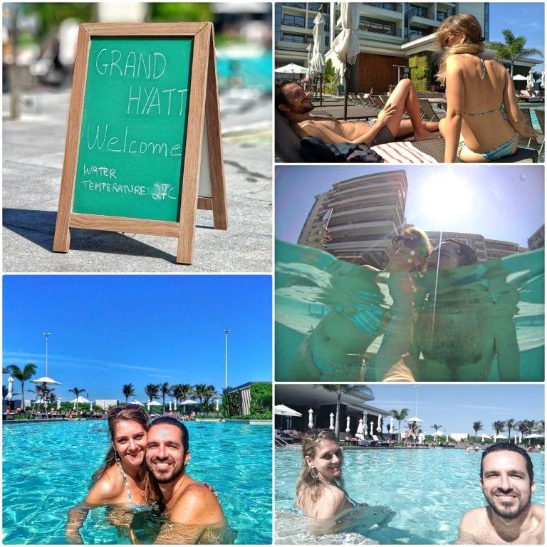 Grand Hyatt Rio de Janeiro - aproveitando a piscina aquecida