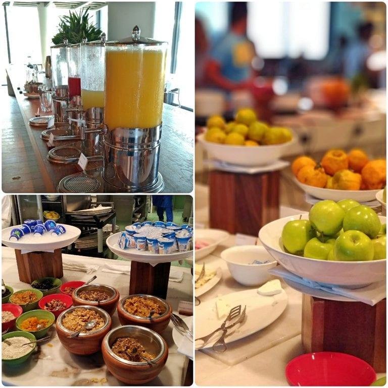 Grand Hyatt Rio de Janeiro - café da manhã com opções saudáveis