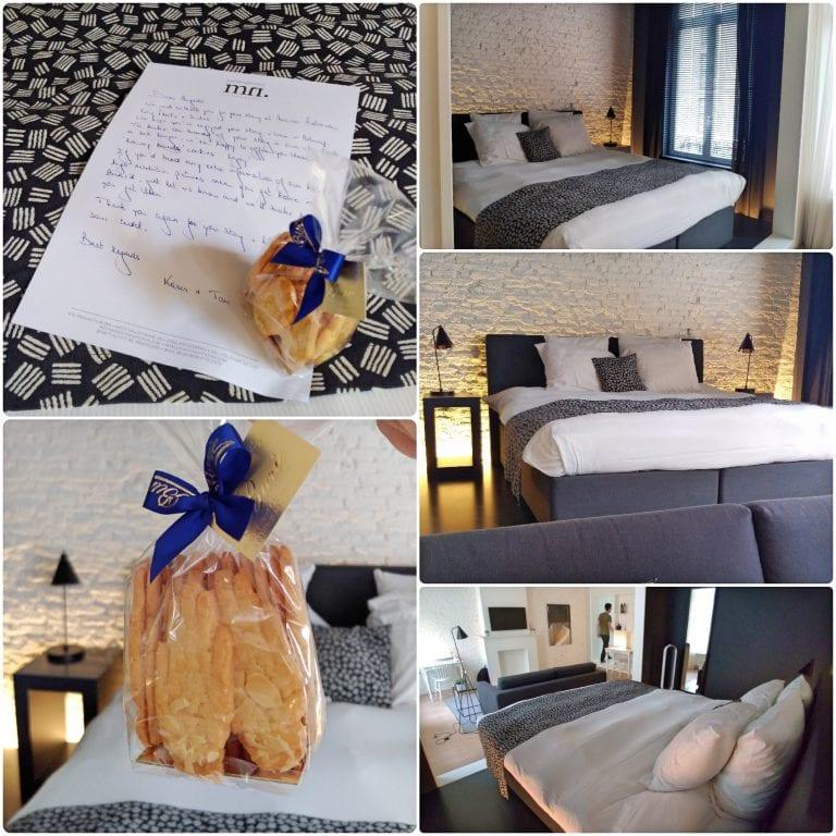 Maison Nationale City Flats & Suites - a cama enorme e o mimo que estava nos esperando