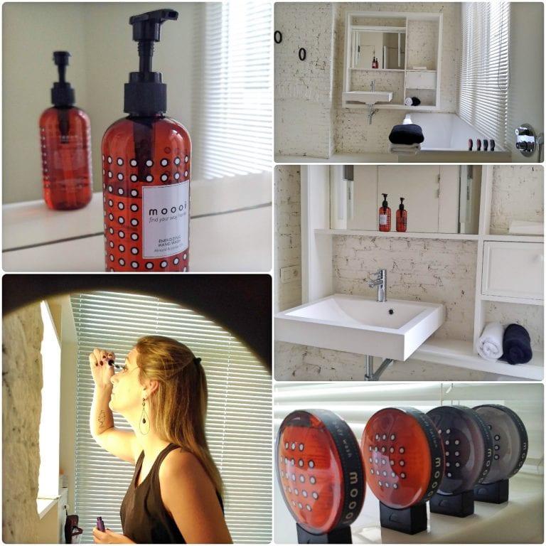 Maison Nationale City Flats & Suites - banheiro com kit de amenities maravilhoso