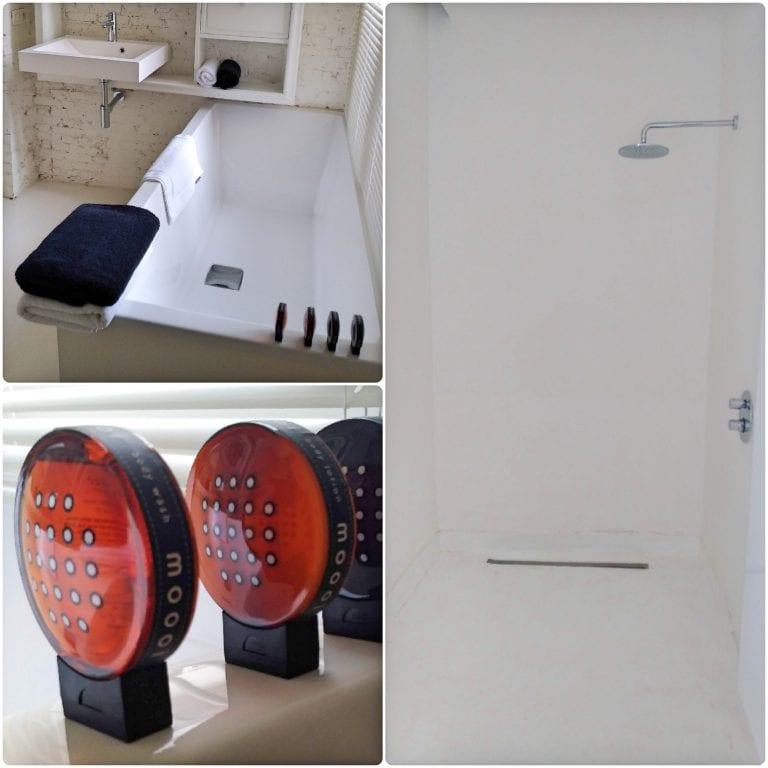 Maison Nationale City Flats & Suites - chuveiro daqueles que caem bastante água e banheira