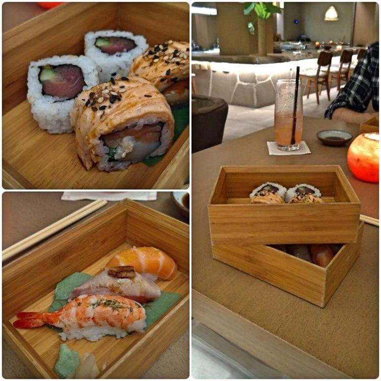 Shiso - 3° tempo - bento box de sushis